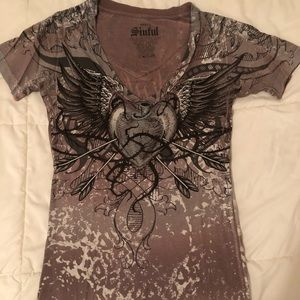 Sinful V Neck Tee